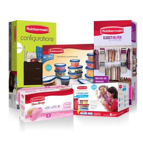 Rubbermaid Product packaging